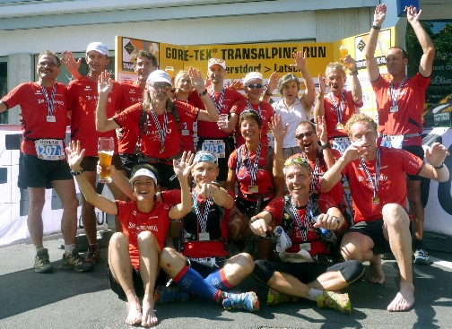 Team Alpinrunner beim Transalpine 2011